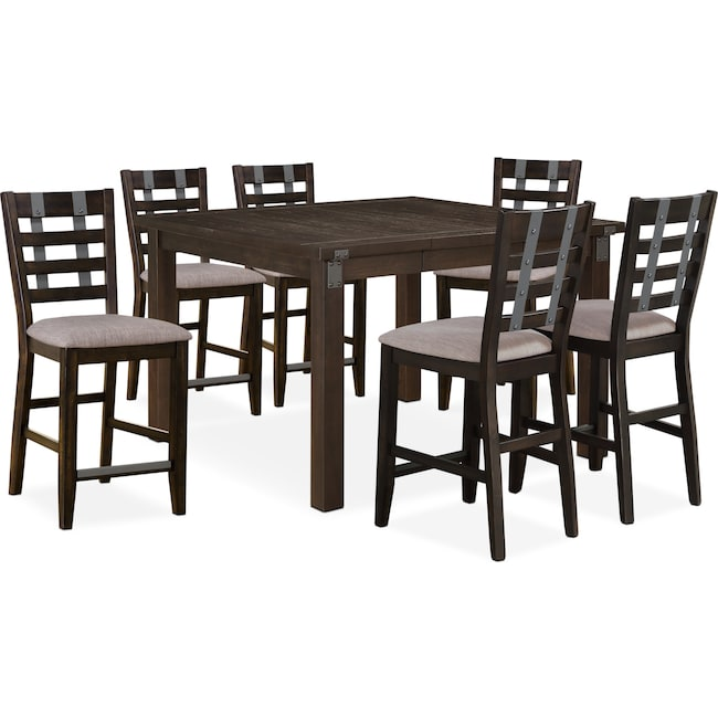 Dining Room Furniture - Hampton Counter-Height Dining Table and 6 Stools