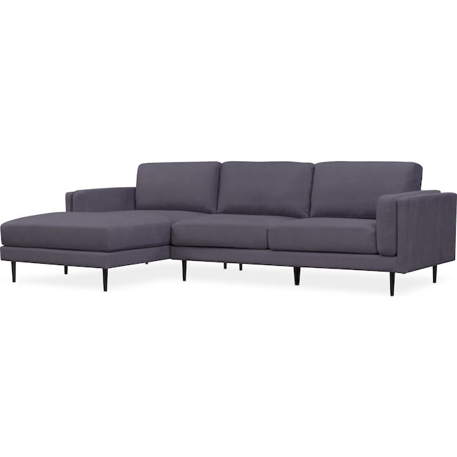 Living Room Furniture - West End 2-Piece Sectional with Chaise