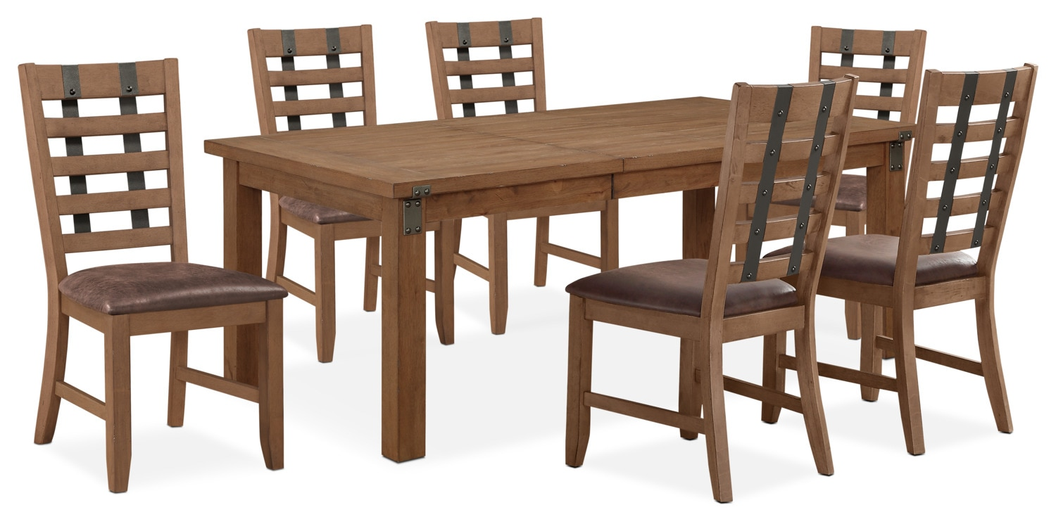 Hampton Dining Table And 6 Side Chairs   Sandstone