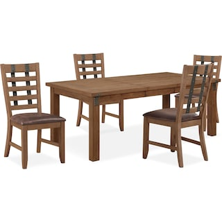Hampton Dining Table and 4 Side Chairs
