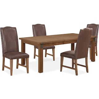 Hampton Dining Table and 4 Upholstered Side Chairs