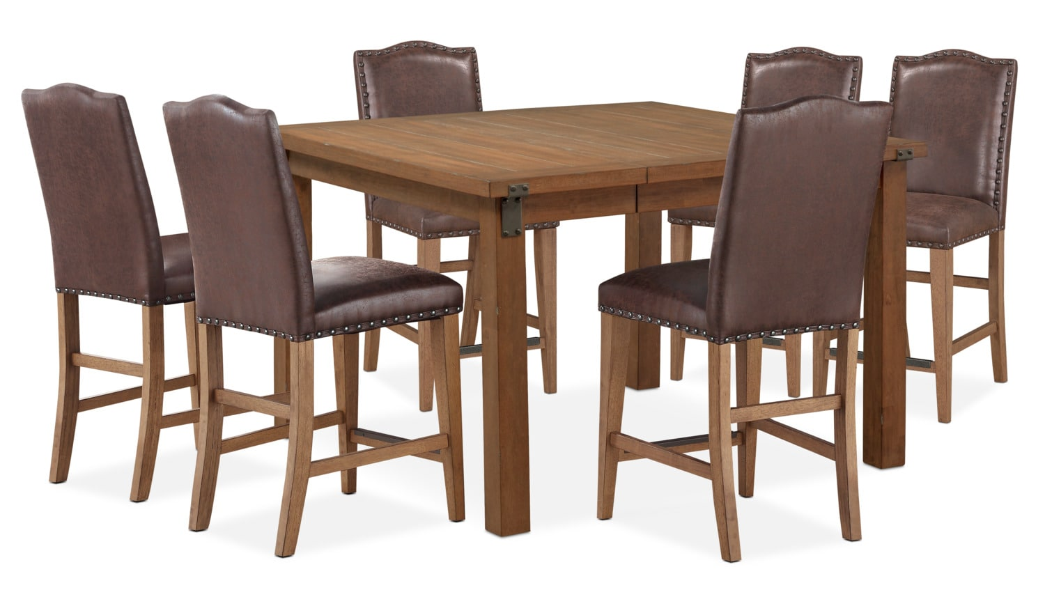 Dining Room Furniture - Hampton Counter-Height Dining Table and 6 Upholstered Stools