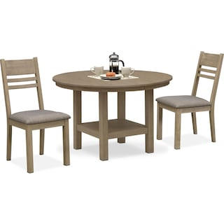 Tribeca Round Dining Table and 2 Side Chairs