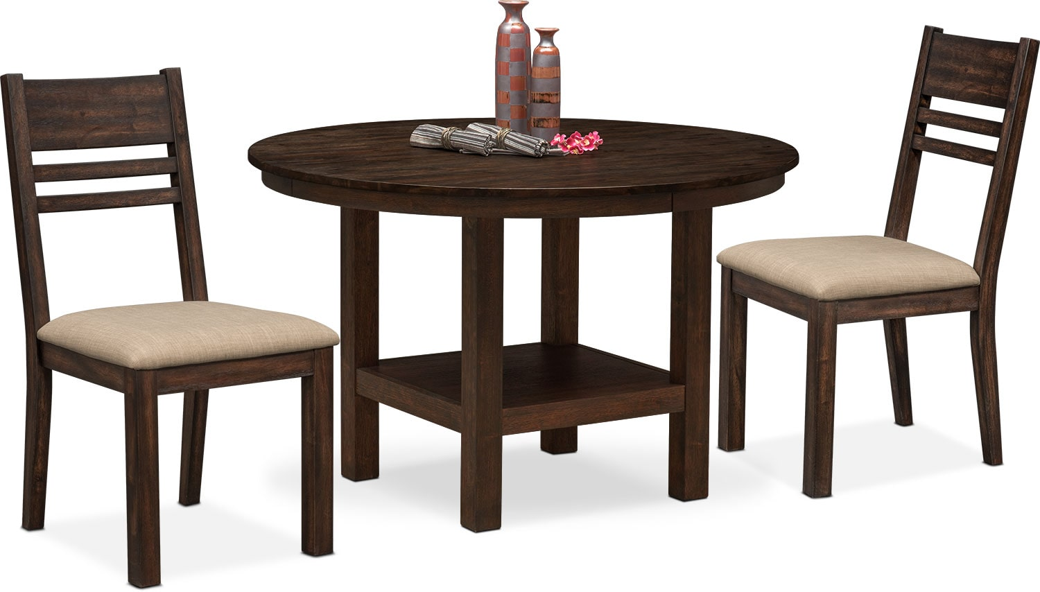 93f0a93ec46 ... Dining Room Furniture - Tribeca Round Dining Table and 2 Side Chairs