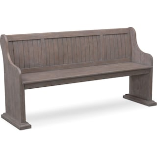 Charthouse Dining Bench - Gray