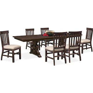 Charthouse Rectangular Dining Table And 6 Side Chairs Charcoal