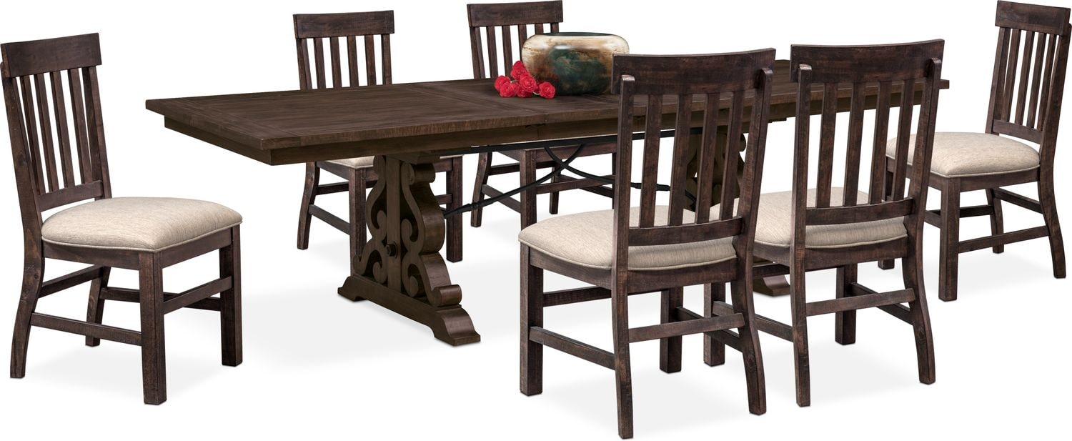 Charthouse Rectangular Dining Table And 6 Side Chairs   Charcoal ...