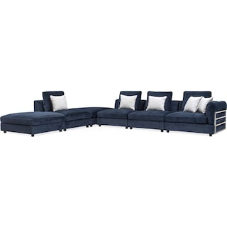 Lavo 6-Piece Sectional with Right-Facing Chair - Ink