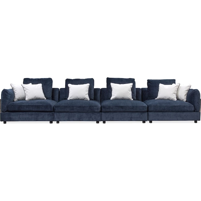 Living Room Furniture - Lavo 4-Piece Sectional - Ink