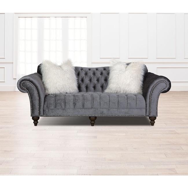 Living Room Furniture - Brittney Sofa - Charcoal