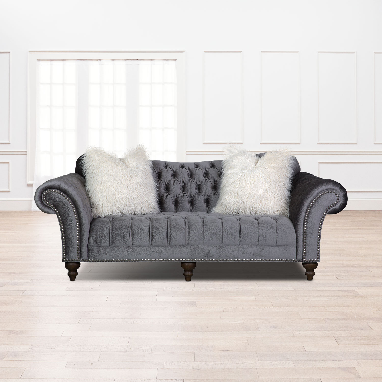 Living Room Furniture   Brittney Sofa   Charcoal
