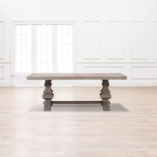 "Lancaster 104"" Wood Top Table with Urn Base - Parchment"