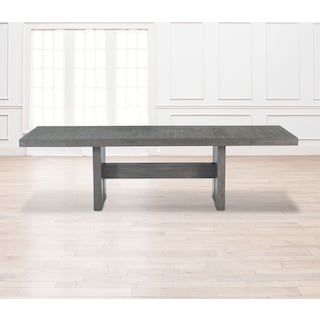 Malibu Rectangular Wood Top Table - Gray