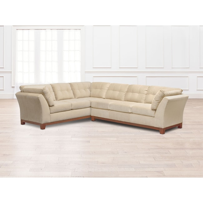 Living Room Furniture - Sebring 2-Piece Sectional with Right-Facing Sofa - Cocoa