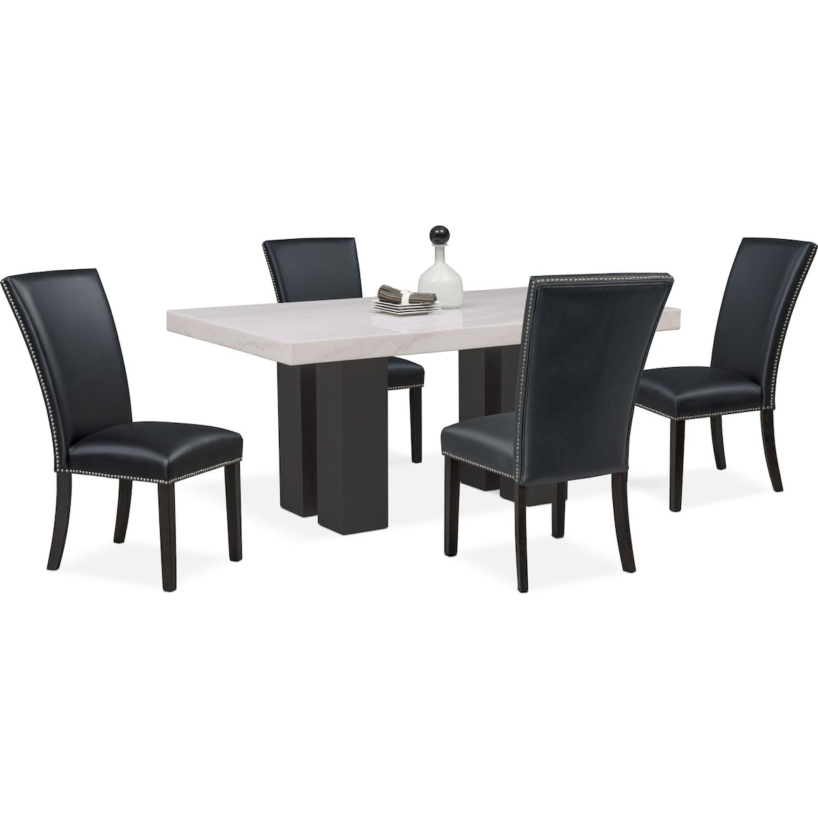 906832d779181f Artemis Dining Table and 4 Upholstered Side Chairs | Value City ...