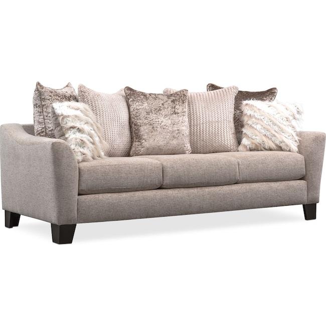 Living Room Furniture - Allure Sofa - Beige