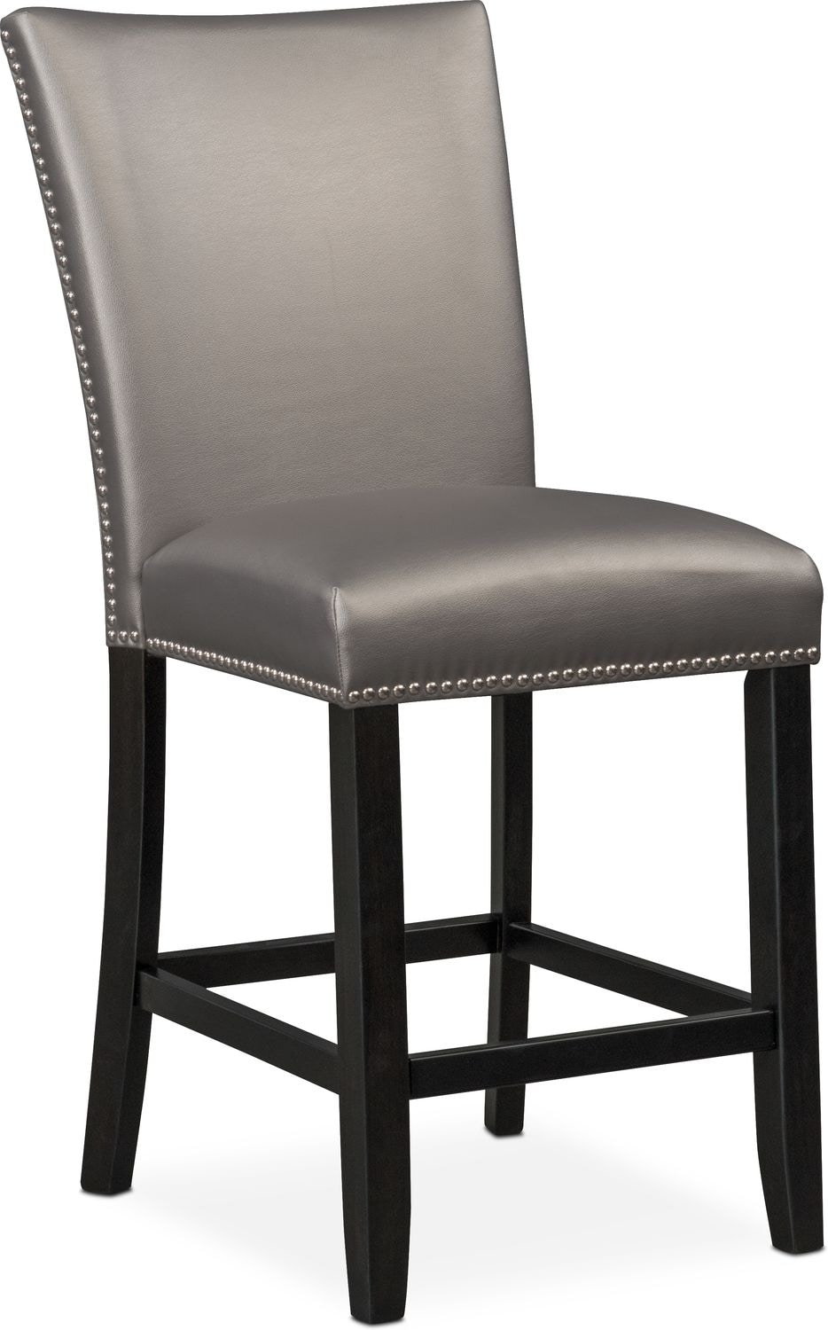 Superieur Artemis Counter Height Upholstered Stool   Gray
