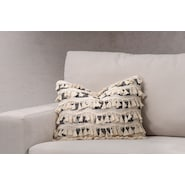 Fringe Decorative Pillow - Ivory (qty 3)