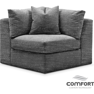 Collin Comfort Corner Chair - Curious Charcoal