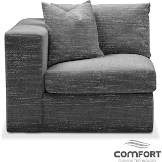 Collin Comfort Left-Facing Chair - Curious Charcoal