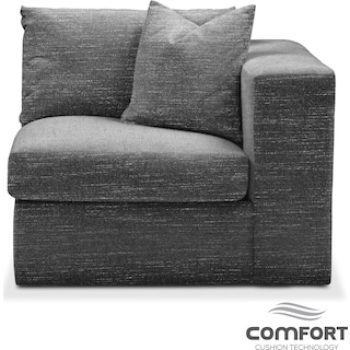 Collin Comfort Right-Facing Chair - Curious Charcoal