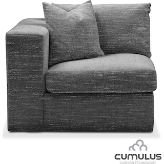 Collin Cumulus Left-Facing Chair - Curious Charcoal
