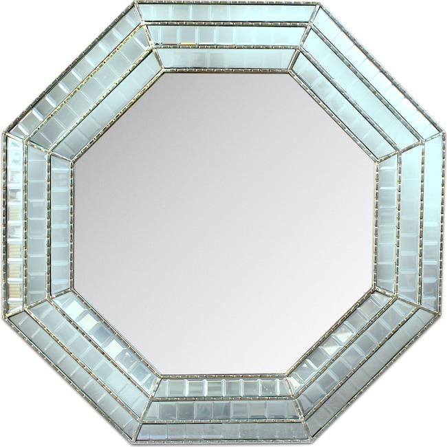 Home Accessories - Triple Mosaic Octagonal Mirror - Silver