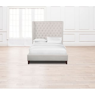 Mandarin Queen Upholstered Bed - Ivory