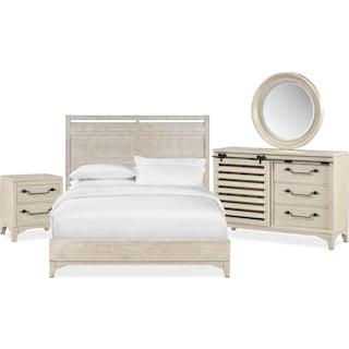 Gristmill 6-Piece Queen Bedroom Set - Linen