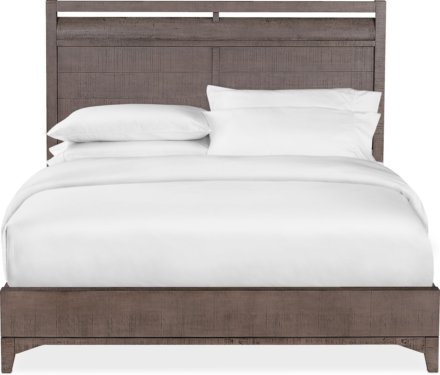 Gristmill King Bed   Gray
