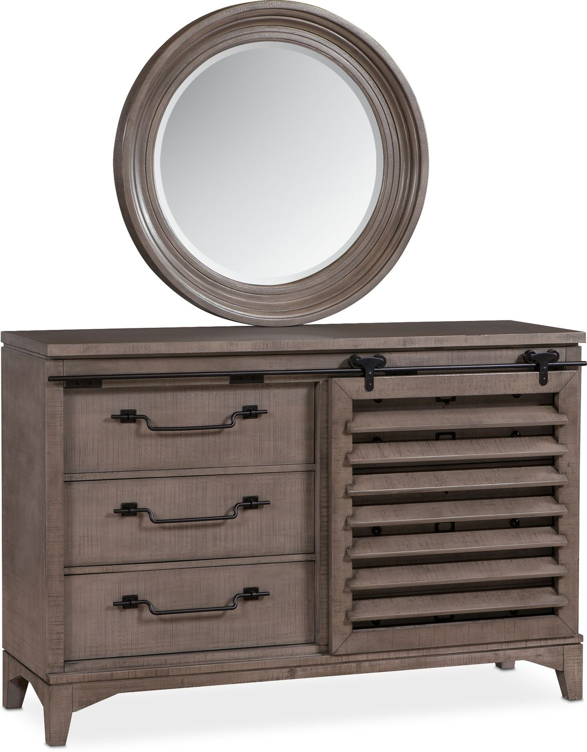 Bedroom Furniture - Gristmill Dresser and Mirror