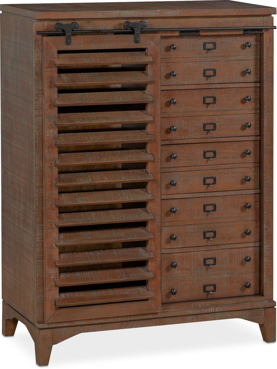 Bedroom Furniture - Gristmill Sliding Door Chest