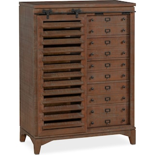 Gristmill Sliding Door Chest - Cocoa