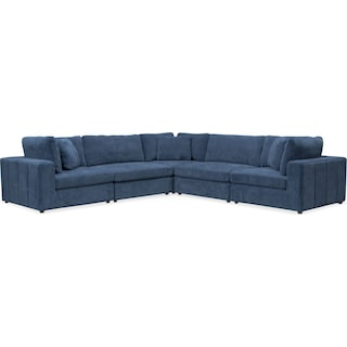 Chill 5-Piece Sectional - Sapphire