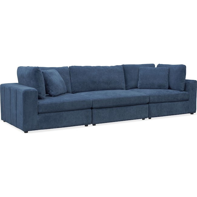 Living Room Furniture - Chill 3-Piece Sectional - Sapphire