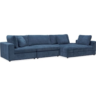 Chill 3-Piece Sectional with Corner Chaise - Sapphire
