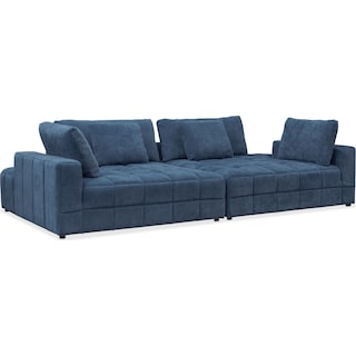 Chill 2-Piece Chaise Sectional - Sapphire