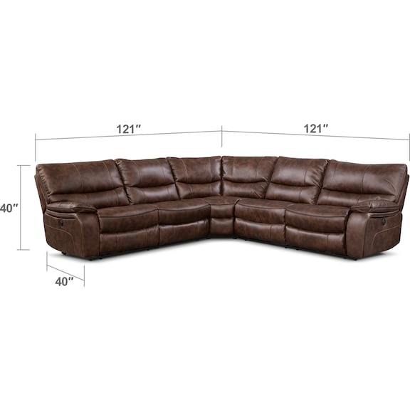 Orlando 5-Piece Power Reclining Sectional | Value City Furniture and ...