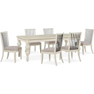 Gristmill Dining Table and 6 Side Chairs