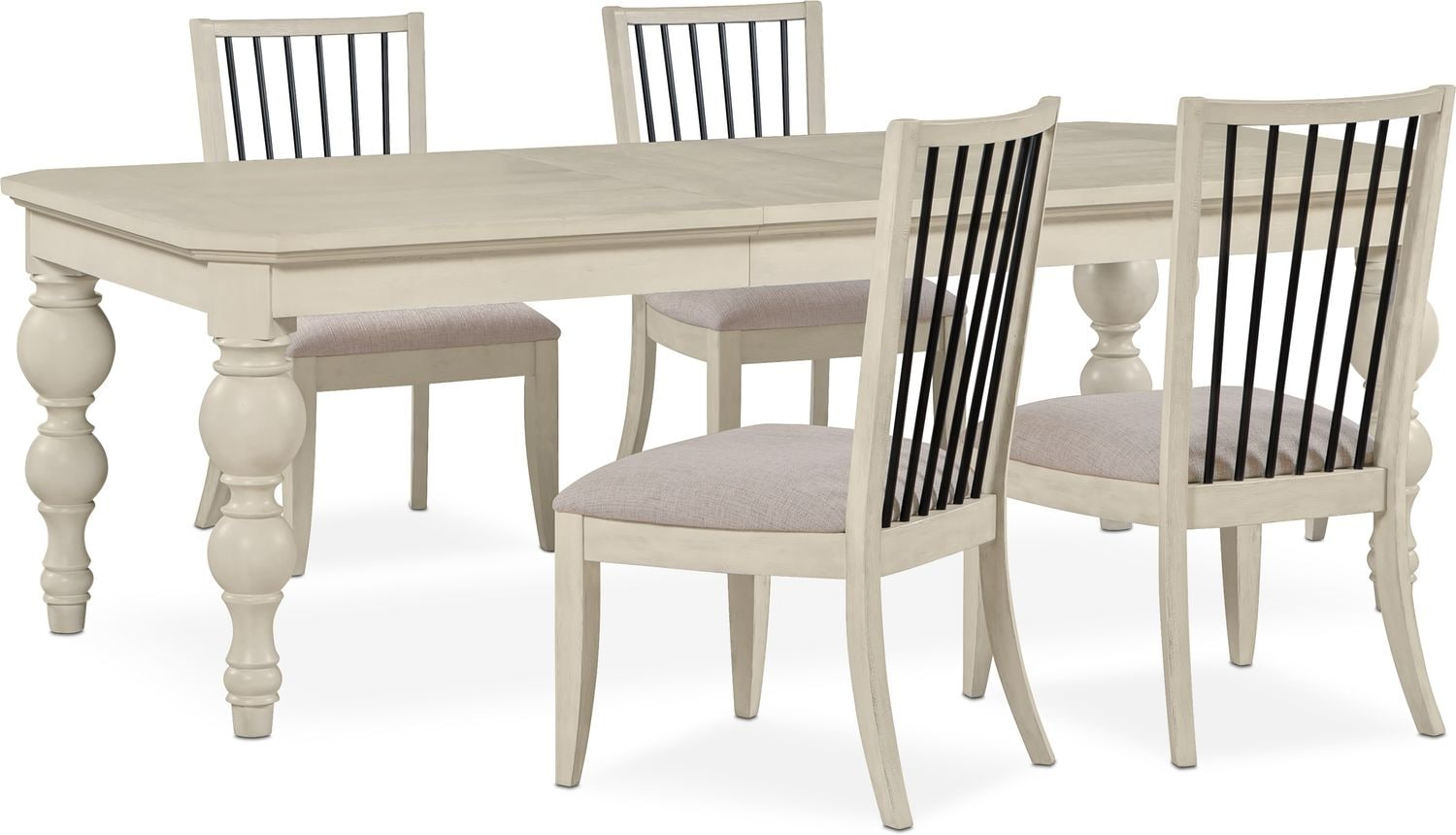 Dining Room Furniture - Gristmill Dining Table and 4 Side Chairs - Linen