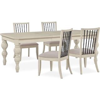Gristmill Dining Table and 4 Side Chairs