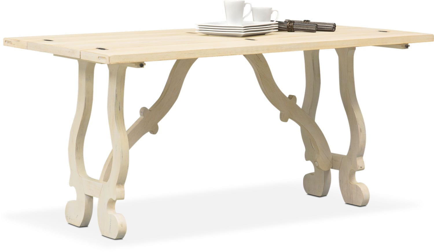 Layne Fold Out Table   Cream