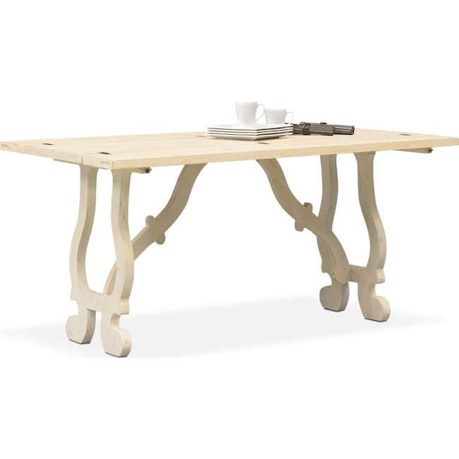 Accent and Occasional Furniture - Layne Fold-Out Table - Cream