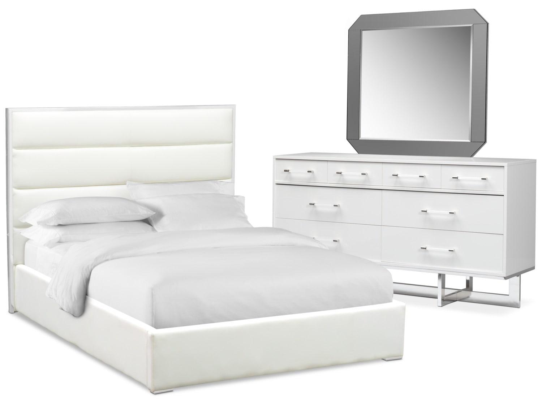 Bedroom Furniture - Concerto 5-Piece Bedroom Set with Dresser and Mirror