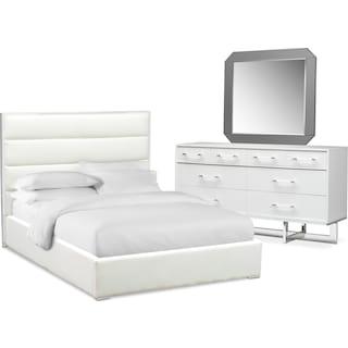 Concerto 5-Piece Queen Bedroom Set - White