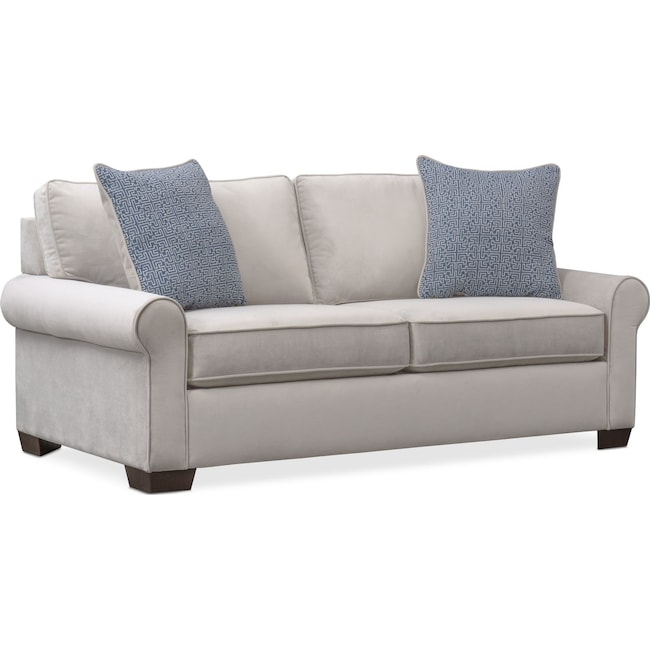 Living Room Furniture - Blake Full Innerspring Sleeper Loveseat - Gray