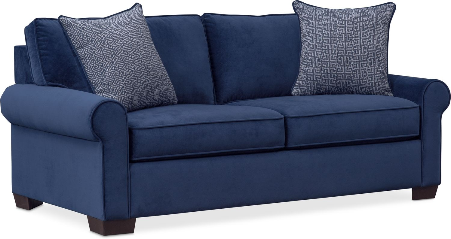 Blake Full Innerspring Sleeper Loveseat - Indigo