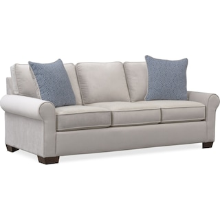 Carla Queen Memory Foam Sleeper Sofa Gray American