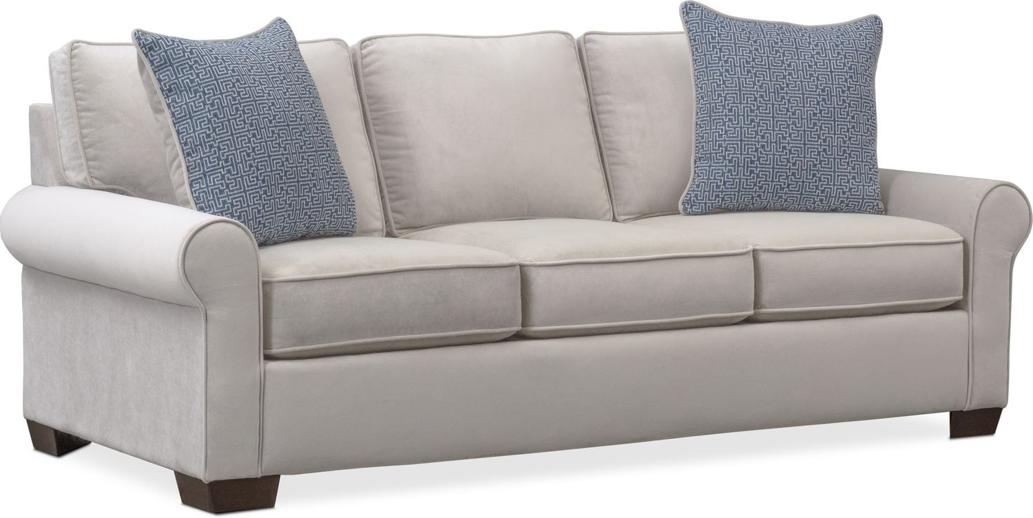 Living Room Furniture   Blake Queen Memory Foam Sleeper Sofa   Gray