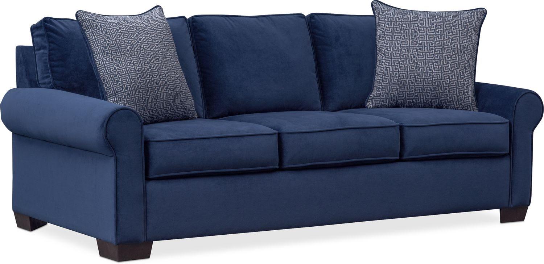 Blake Queen Memory Foam Sleeper Sofa   Indigo